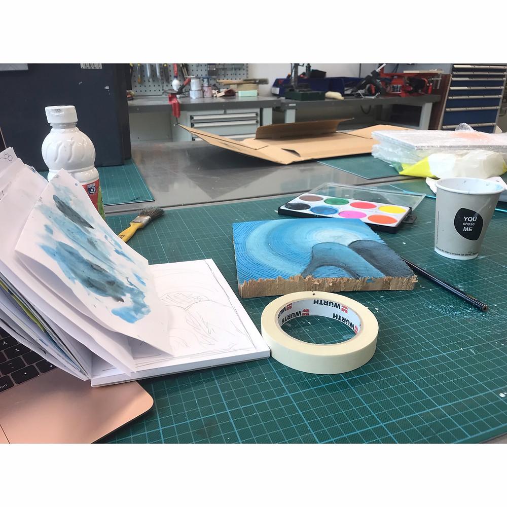 Plastic lab - my second home - Nia Maria Haaranen - Painting