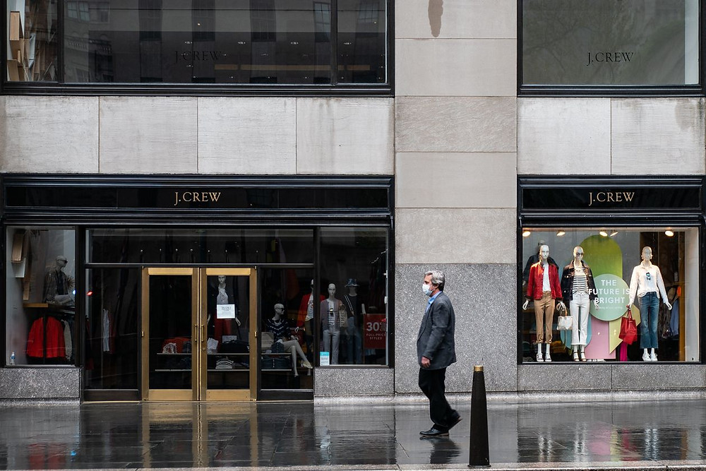 Retailer J. Crew filed for bankruptcy, contributing to business bankruptcies skyrocketing 48% to an 8 year high.
