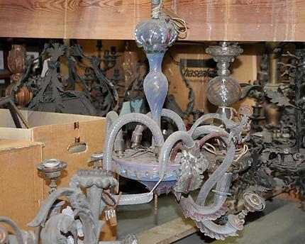 Kronleuchter Mit Blättern ~ Fine glass restoration kronleuchter