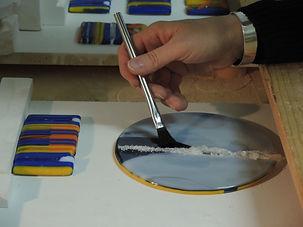 Fusing vorbereiten im Glasstudion