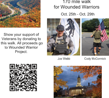 The Gap to Old Main - 170 Mile walk for Wounded Warriors