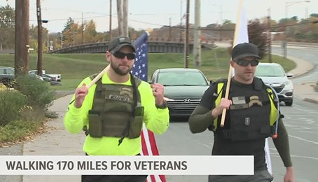 Walking 170 miles for Veterans - Fox 43