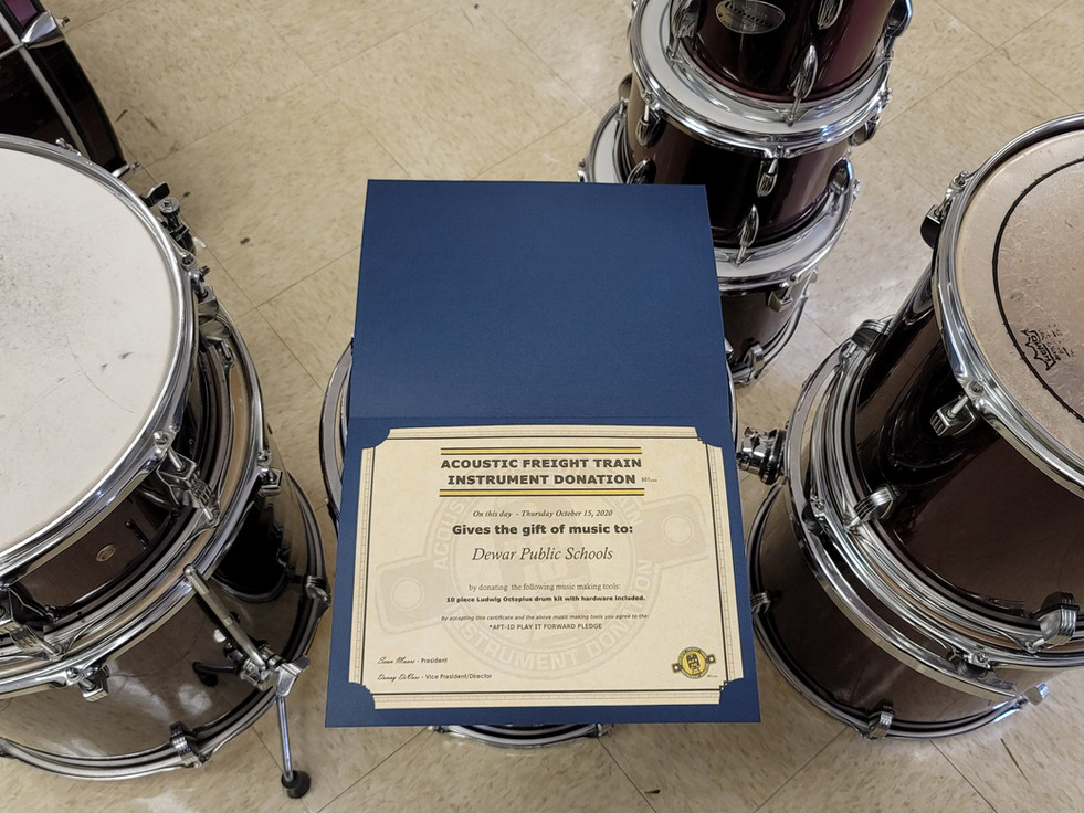 The Drums Have Been Presented!