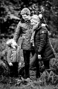 Family portrait black and white photography, Surrey