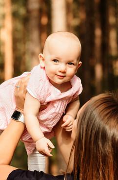 Baby girl headshot, West Sussex