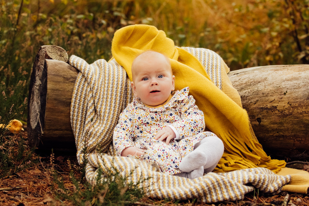 Baby in the forest, Midhurst Common