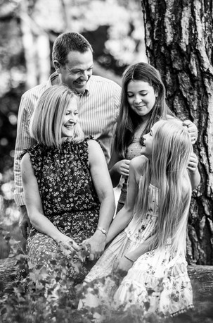 Family at Frensham Ponds, Surrey