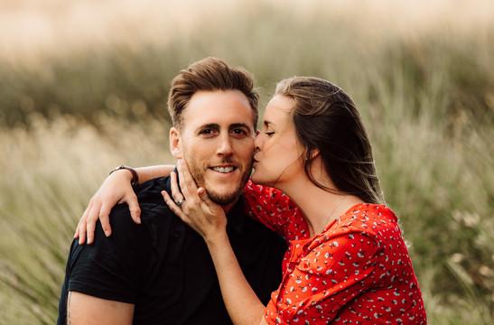 Couple kissing, West Sussex