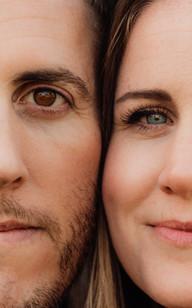 Couples faces, Petworth Park, West Sussex