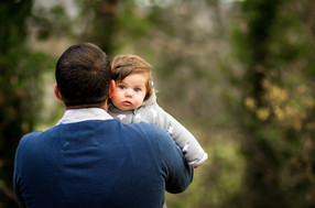 Father and baby photograph, Midhurst, West Sussex