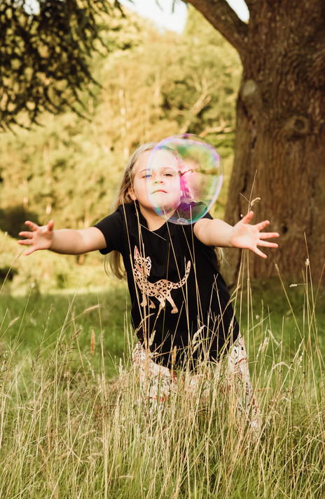 Playing with bubbles, Haslemere, Surrey