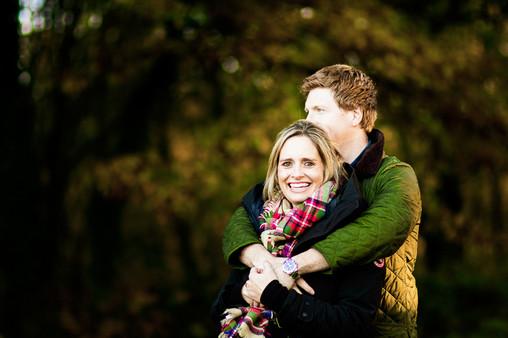 Couple photographed, Devils Punchbowl, Surrey