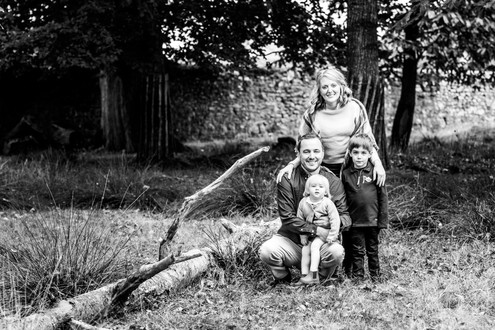 Family forest photograph, Petworth Park
