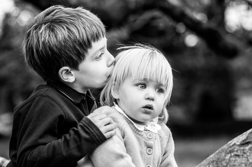 Brother and sister photography, West Sussex