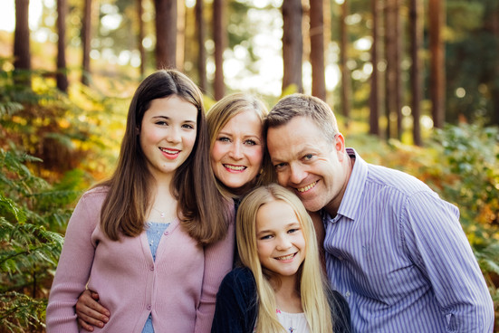 Family close up in outdoor photography, Surrey