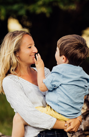 Mother and son, Summer photoshoot, Petworth Park