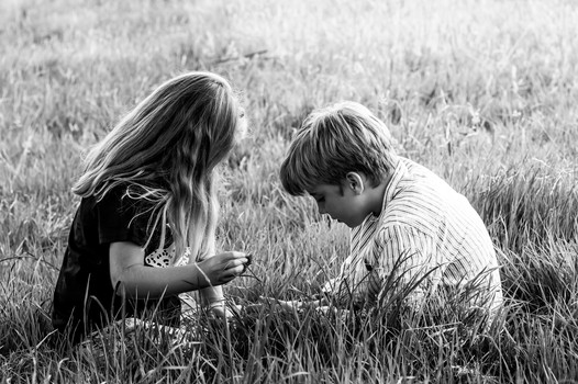 Brother and sister photograph, Haslemere