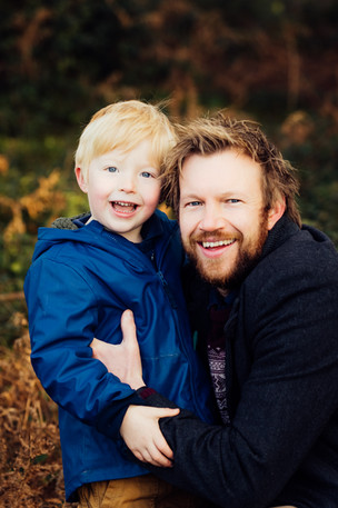 Father and son headshots, Surrey
