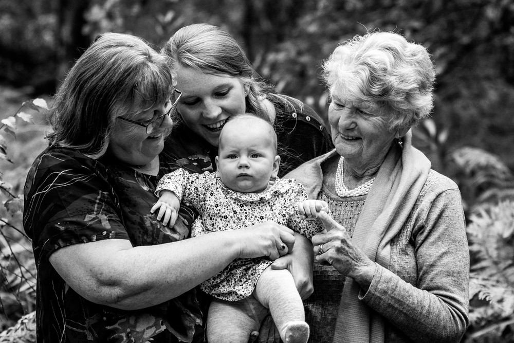 Four generations, family photograph, Midhurst