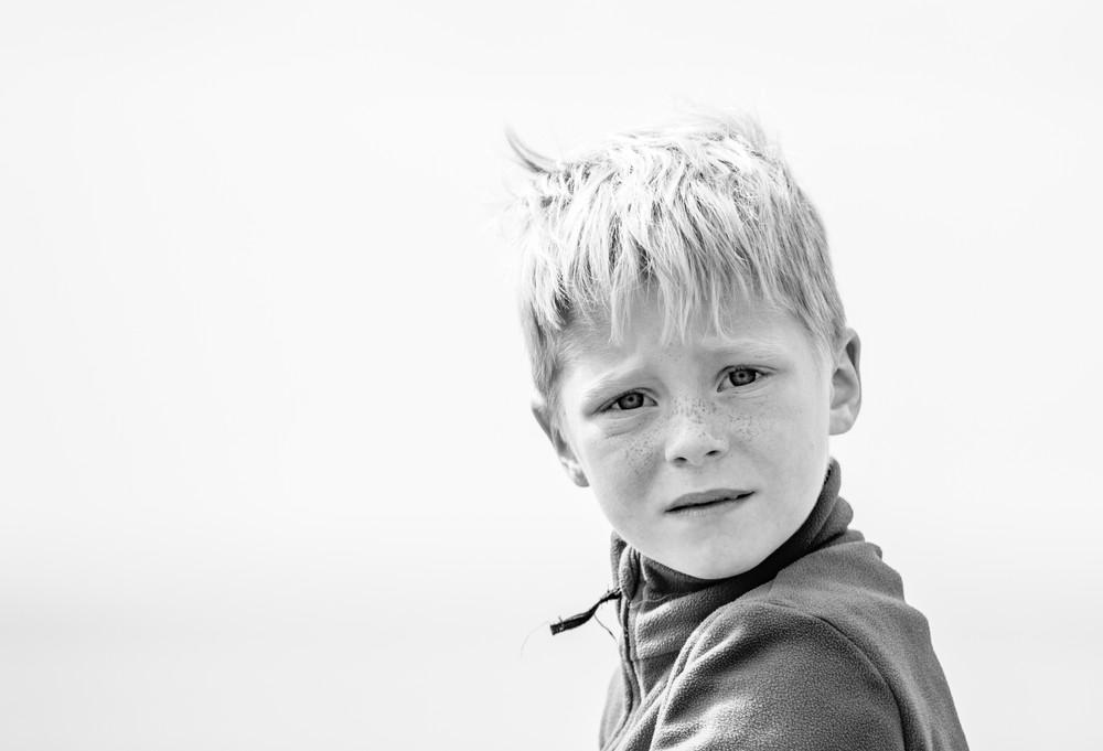 Boy at beach, West Sussex