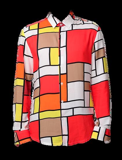 Camicia Uomo Geometry