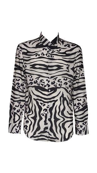 Camicia Uomo Leopard Zebra