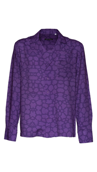 Camicia Uomo Violet Leopard