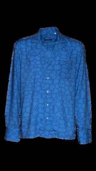 Camicia Uomo Blue Leopard
