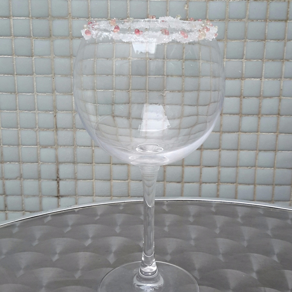 Glass decorated using finger limes (MonCitric) - II