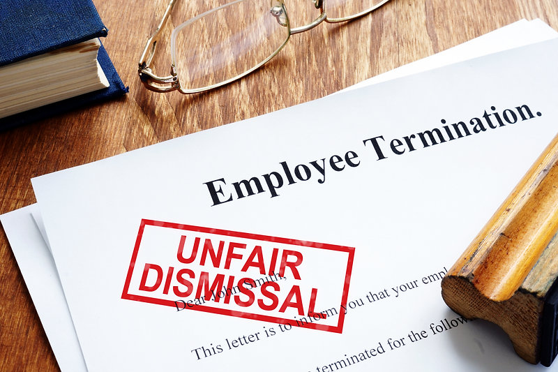 Unfair dismissal stamp on the Employee T