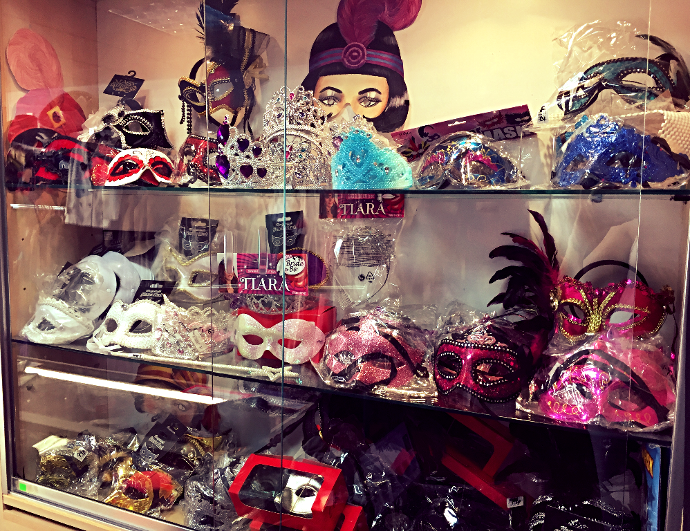 Masquerade Masks Display
