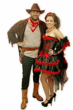 Cowboy & Saloon Girl