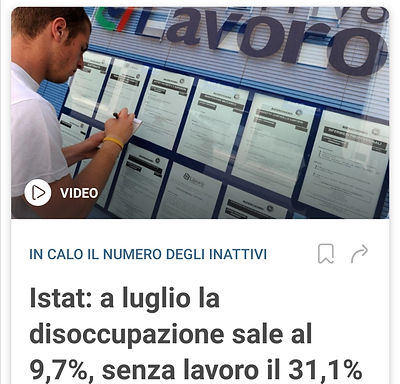 意大利新冠爆发后最新失业率和GDP数据