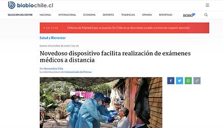 BioBio Chile Telemedicina TytoCare ContagiemosSalud