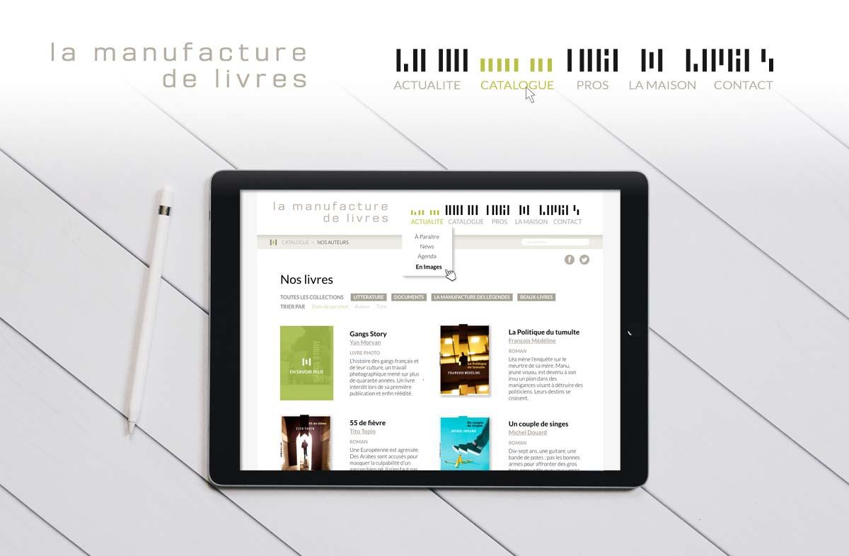 Site web La Manufacture de livres