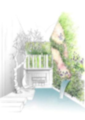 Les plantes & végétaux choisis avec soin sont adapté aux murs