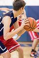 Jeu de basket-ball de lycée