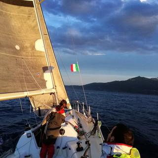 Approche de Capraïa (Italie)