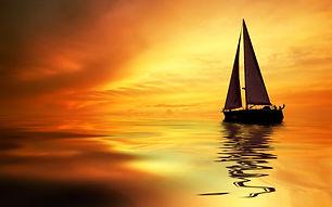 Soirée voile coucher de soleil