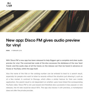 New app: Disco FM gives audio preview for vinyl