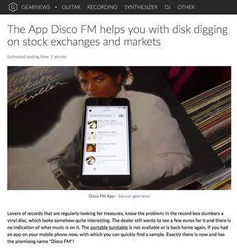 Die App Disco FM hilft euch beim Platten-Diggen auf Börsen und Märkten