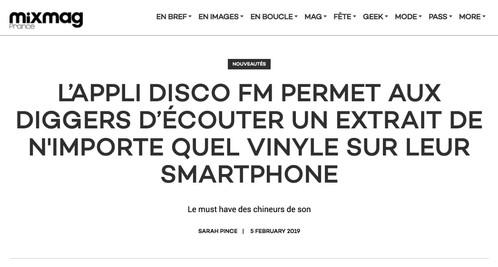 L'appli Disco Fm Permet Aux Diggers D'écouter Un Extrait De N'importe Quel Vinyle Sur Leur Smartphone