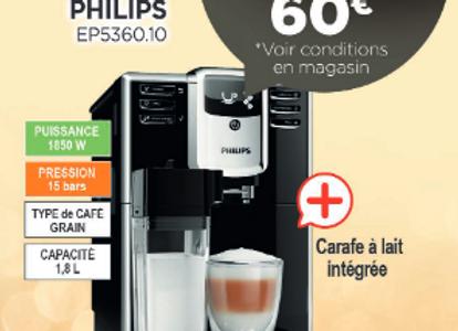 Machine à café Avec broyeur PHILIPS - EP5360.10
