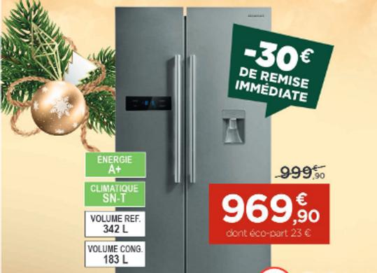 Réfrigérateur américain BRANDT - BFA772ZNX