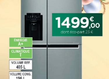 Réfrigérateur américain LG - GSL6611PS