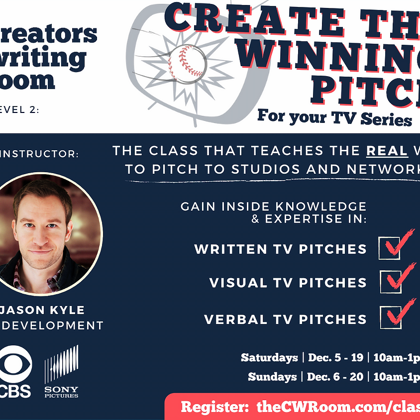 Create the Winning Pitch for your TV Series (Sat)