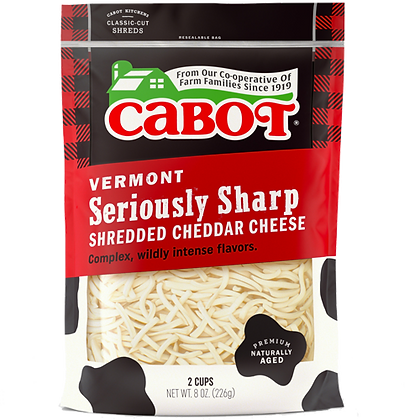 Cabot Seriously Sharp Shredded Cheese