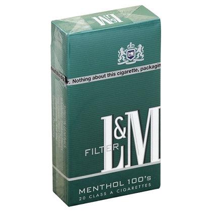 L&M Menthol 100s Cigarettes