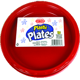 Hy-Top Plastic Plates (15 ct)