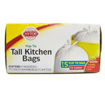 Hy-Top Tall Kitchen Trash Bags (15 ct)